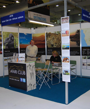 Safari Club Holidays & Tours - Paul at Olympia Exhibition