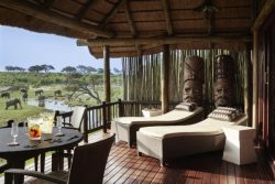 Safari Club Premium Accommodation - Belmond Savute Elephant Lodge room deck view