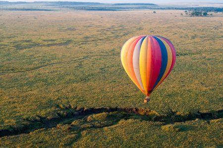 Ballooning over the Maasai Mara