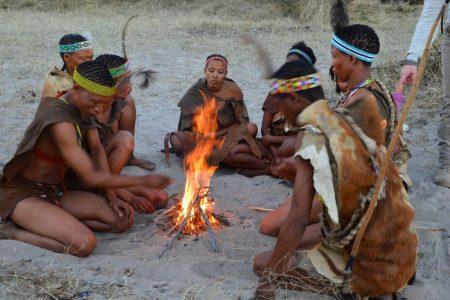 Bushmen fire lighting