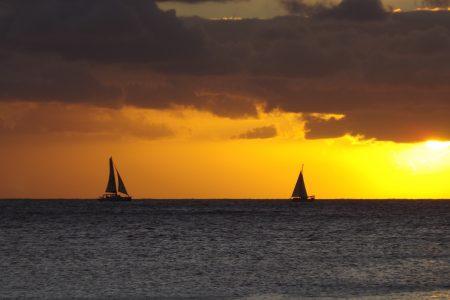 Golden sunset over Grand Bay