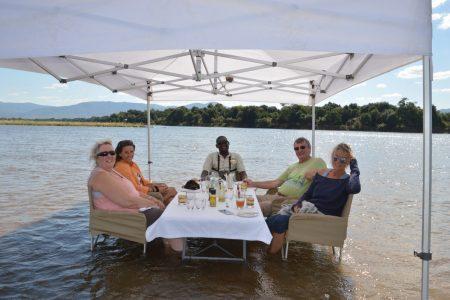 Lunch at Sausage Tree Lower Zambezi